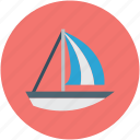 boat, yacht, sailboat, travel icon
