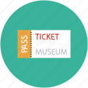 pass, ticket, id, museum ticket