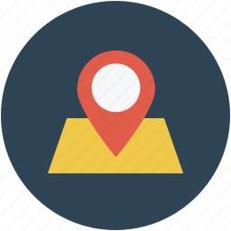 location, locator, map pin, pin on map icon