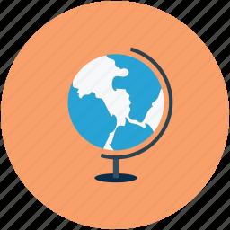 desk globe, earth, globe, world icon