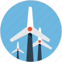 energy, turbine, wind, windmill icon