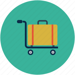 hand truck, luggage cart, luggage trolley, platform truck icon