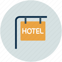 hotel, hotel information, info, signboard icon