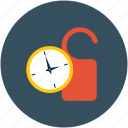 clock, do not disturb, door knob, schedule icon
