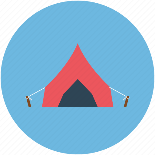 camping, outdoors, tent, travel icon