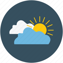 clouds, forecast, sun, weather icon