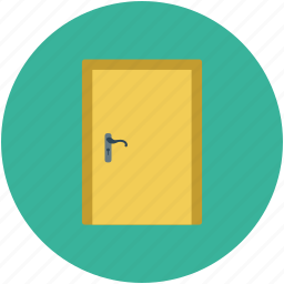 door, door closed, home door, interior icon