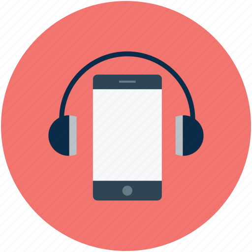 headphones, listening, music, smartphone icon