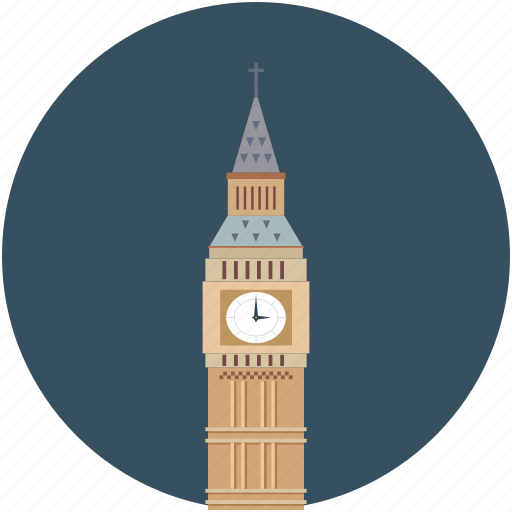 big-ben, building, clock tower, tower icon