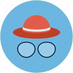 eyeglasses, hat, hat and glasses, wizard icon