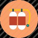 cylinder, oxygen, oxygen tank, scuba icon