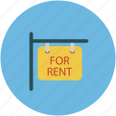 for rent, information, real, signboard icon