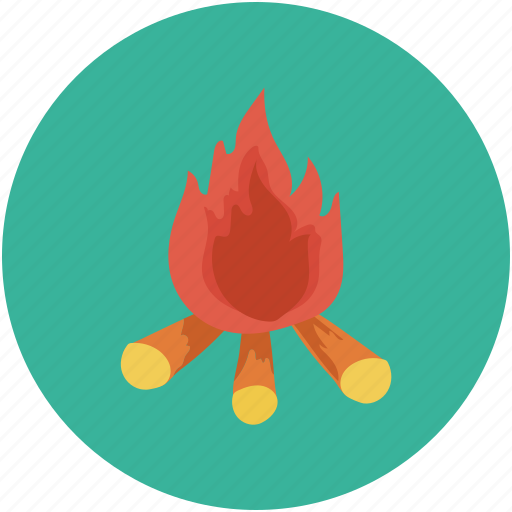 campfire, camping, fire, flame icon