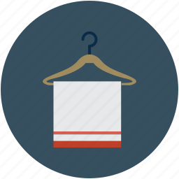 bathroom, toilet, towel, towel on hanger icon