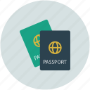 document, id, passport, travel icon