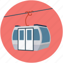 alpine, alps, cable car, holiday, travel, vacations icon