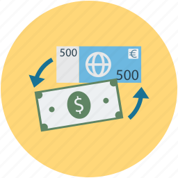 currency, currency exchange, exchange, transformation icon
