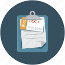 museum, pass, tickets, travel icon