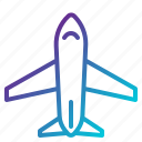 aeroplane, airliner, airplane, flight, plane