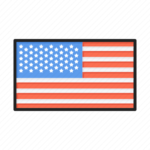 america, american, flag, states, usa icon