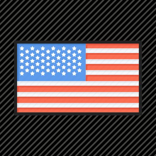 america, american, flag, states, usa icon