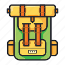 backpacker, bag, camping, holiday, suitcase, traveling, vacation icon