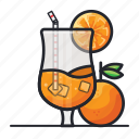 beverage, drink, ice, juice, lemon, lemonade, orange icon