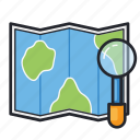 guide, location, map, navigation, world icon