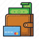 card, cash, dollar, finance, money, payment, wallet icon