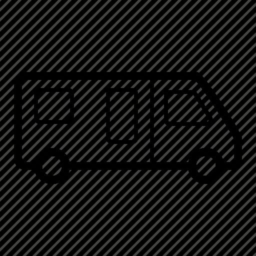 camping, caravan, trailer, transport, travel, vehicle icon