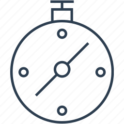 clock, compass, direction, location, navigate, navigation, stopwatch, time, timer, watch icon