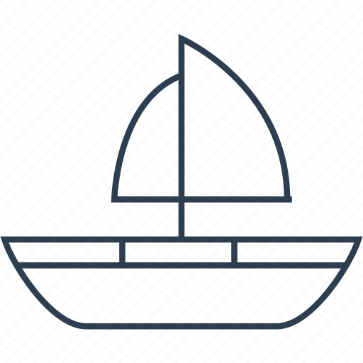 boat, nautical, ocean, sail, sea, ship, shipping, transport, transportation, travel, yacht icon