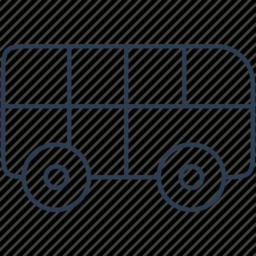 auto, automobile, bus, car, public, traffic, transport, transportation, travel, vehicle icon
