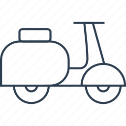 bike, delivery, drive, moped, moto, motorcycle, scooter, traffic, transport, transportation, travel, vehicle, vespa, wheels icon