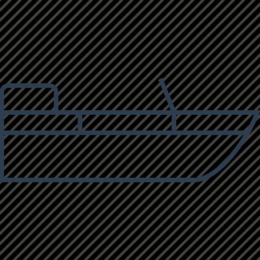boat, fishing, marine, ocean, sea, ship, shipping, transport, transportation, travel, water icon