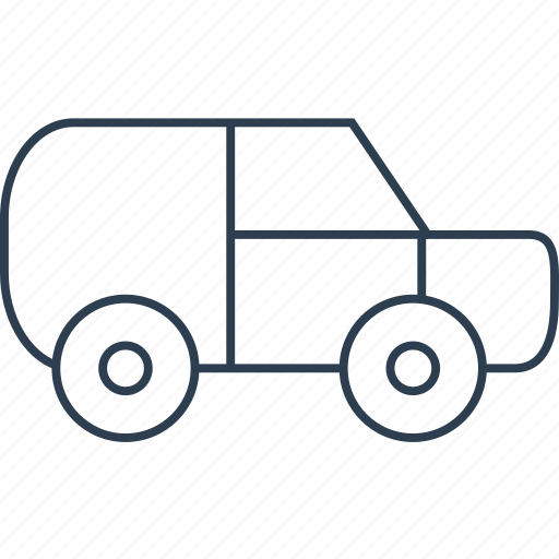 auto, automobile, car, delivery, jeep, logistics, traffic, transport, transportation, travel, truck, van, vehicle icon