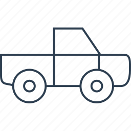 auto, automobile, car, deliver, delivery, lorry, pickup, traffic, transport, transportation, travel, truck, vehicle icon