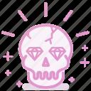 rich, treasure, wealth, diamond, skull
