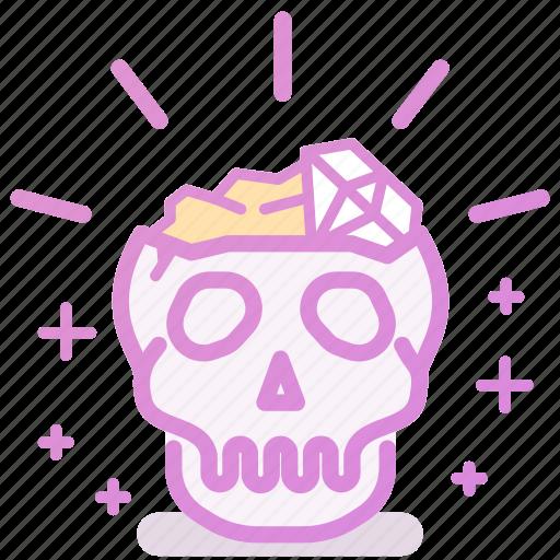 gold, skull, treasure, wealth icon