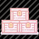 asset, boxes, rich, treasure, wealth icon