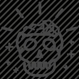 asset, skull, treasure, valuable, wealth icon