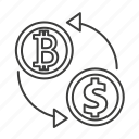 bank, dollar, exchange, flow, money, recycle, transaction icon