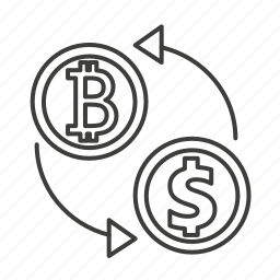 bank, dollar, exchange, flow, money, recycle, transaction icon