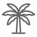 coconut, nature, palm, tree icon