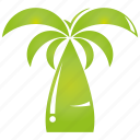 green, leaf, plant, tree icon