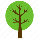 forest, generic tree, green foliage, round tree, shrub tree icon