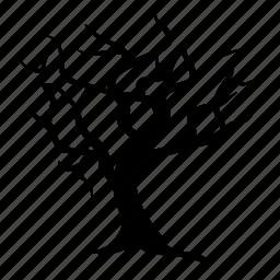 barren, dead, leafless, naked, tree, winter icon