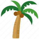 beach, coconut, holiday, palm, tree, tropical, vacation icon