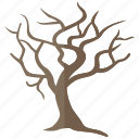 barren, dead, leafless, naked, tree, winter icon