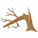 broken tree, damage, dead, lightning, shattered, storm, tree icon